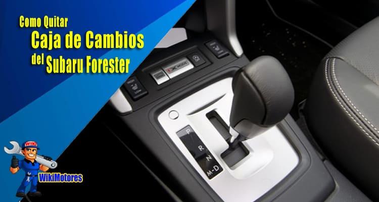 Como Quitar la Caja de Cambios del Subaru Forester 2